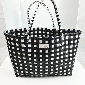 Kate Spade Woven Black & White Large Tote Bag